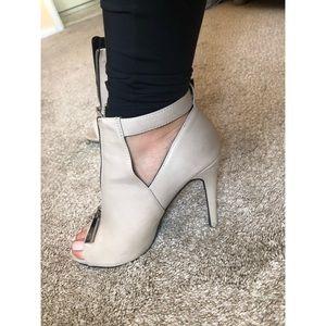 Aldo Zip Up Leather Heels